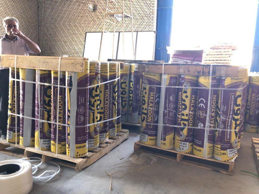 ایزوگام صادراتی حلزون با پالت